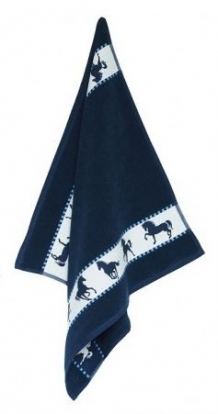 Keukendoek Horse Blue