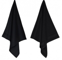 Set keuken- & theedoek Solid Black
